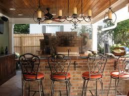 kitchen outside kitchen ideas with black metal chrome bar stool