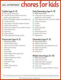 free printable chore ideas for kids free printable free and