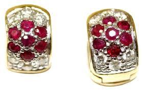 rox diamond earrings ruby rox yellow happy diamond haggies earrings tradesy