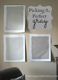 love this no fail method for picking the perfect gray paint