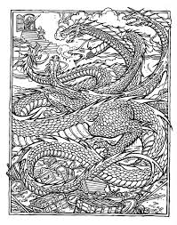 dragon coloring pages adults download print free