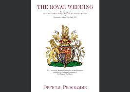 wedding program poster official royal wedding program prince william and catherine