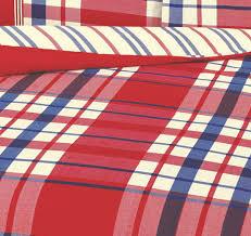tartan check duvet cover u0026 pillowcase set red