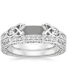 diamond bridal sets 18k white gold aberdeen diamond bridal set brilliant earth