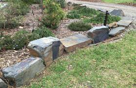 Garden With Rocks Landscaping Stones Garden Feature Rocks Australian Slate