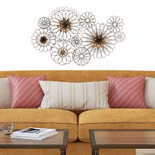 modern 7 quot wire flower wall art set contemporary metal barbed wire art wild flowers wall