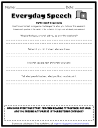 my weekend sequencing everyday speech everyday speech