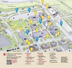 Map Indiana Emergency Phone Locations Indiana University Northwest
