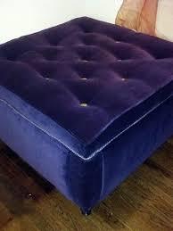 Purple Storage Ottoman Handmade Tufted Purple Velvet Storage Ottoman By M Elliott Designs