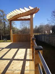 Decking Pergola Ideas by 11 Best Cedar Deck Pergola And Railings Images On Pinterest Deck