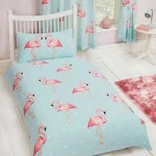 Kids Single Duvet Cover Sets Fifi Flamingo Single Duvet Cover Set Kids Girls Bedding New Ebay