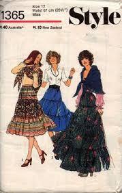 burda 5364 retro 80s womens ruffled steampunk romantic ruffled