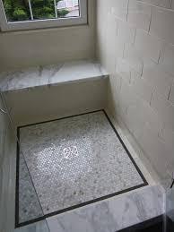 unique bathroom flooring ideas floors marble shower with tile flooring accent for unique