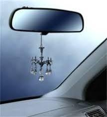 decorative mini chandelier w crystals rear view mirror ornament