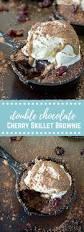 double chocolate cherry skillet brownie love u0026 zest