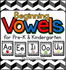 beginning vowels printable pack of posters and worksheets for