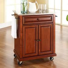 kitchen islands with stainless steel tops crosley furniture stainless steel top kitchen island cart clrs