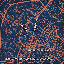 Map Of Charlottesville Va University Of Virginia Campus Map Art City Prints