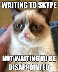 Meme Waiting - waiting to skype not waiting cat meme cat planet cat planet