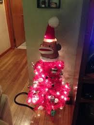 sock monkey tree made monkey tree and