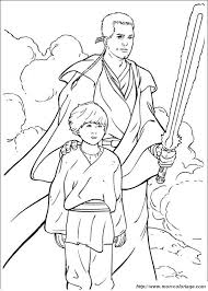 Ausmalbilder Star wars bild obi wan kenobi mit anakin skywalker
