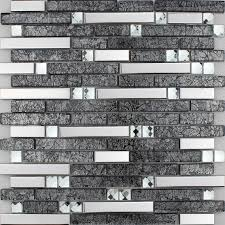 Wholesale Metallic Backsplash Tiles Brown  Stainless Steel - Glass and metal tile backsplash