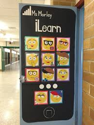 check out our awesome emoji classroom door my co workers and i put