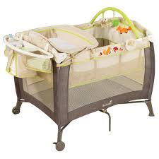Playpen With Changing Table And Bassinet Amazon Com Summer Infant Grow With Me Playard And Changer Fox
