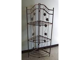 Bakers Wine Racks Furniture Ideas Wrought Iron Bakers Rack For Inspiring Best Material Of