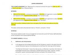 sample license agreement template
