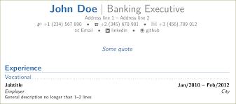 latex resume template moderncv banking 365 change the order in moderncv banking tex latex stack exchange