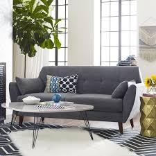 Gray Modern Sofa Decor Amelie Mid Century Modern Sofa Reviews Wayfair