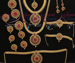 bridal wedding necklace set images Br7372 full bridal wedding jewellery set latest invisible stone JPG