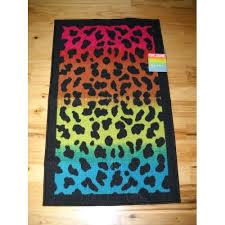 Rainbow Bedroom Decor Rugs For Teens Girls Bedroom Decor Black Rainbow Leopard Throw