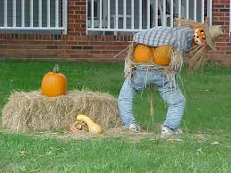 Outdoor Halloween Decorations To Make At Home by 5 Ways To Have A Green Halloween Straw Bales Scarecrows And