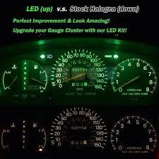 Led Cluster Lights Led Kit Gauge Cluster Super Green Lights Bulbs For 1999 2001 Jeep