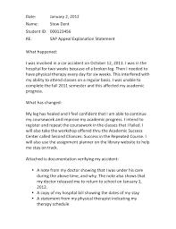 Sample Sap Basis Resume by Writing A Successful Sap Appeal Financial Aid Wayne State Sample