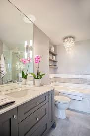 Pinterest Bathroom Mirror Ideas Madison Taylor Design Bathrooms White And Grey Bath White And