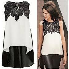 blouse wanita blouse wanita froral lace chiffon size s white jakartanotebook