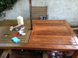 How To Make Furniture Look Rustic by Bringing Teak Outdoor Furniture Back From The Brink Old Town Home
