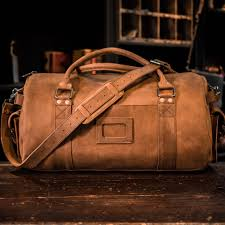 leather travel bags images Leather travel duffle bag for men sienna brown buffalo jackson jpg