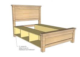Bed Frame Joints Diy Bed Frame With Storage Woodworking Session