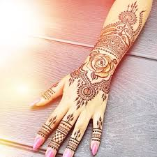 large hand henna tattoo