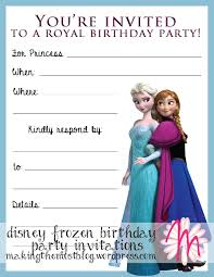 birthday invitation card frozen birthday invitations new