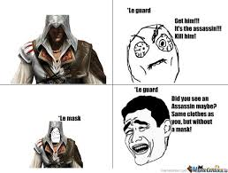 Assassins Creed Memes - assassins creed 2 guard logic by kingezio meme center