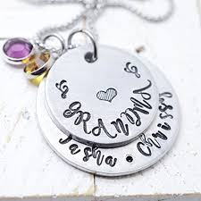 kids name necklace birthstone necklace with kids name necklace silver tone
