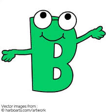 download cartton letter b vector graphic