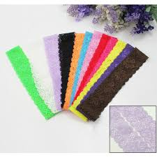 headband elastic leegoal 12pcs lovely colorful lace stretch hair