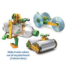 6 in 1 solar recycled robotics kit toys games electronics
