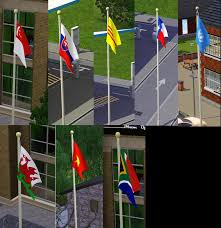 Israel Flag For Sale Mod The Sims More Flags For Your Sims Now Placeable On
